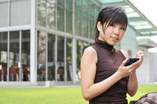 Free Asian Woman In The City Stock Photo - 10234700