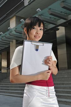 Free Asian Office Woman In The City Royalty Free Stock Photo - 10235385