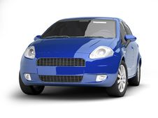 Free Blue Car Front View Stock Image - 10236561