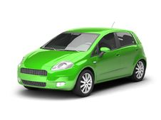 Free Green Hatchback Car Illustration Stock Photo - 10236580