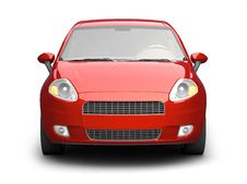 Free Red Car Front View Royalty Free Stock Images - 10236599