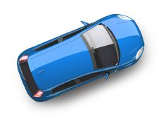 Free Modern Car Top View Royalty Free Stock Photography - 10236607