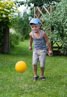 Free The Boy With A Ball. Stock Photos - 10236653