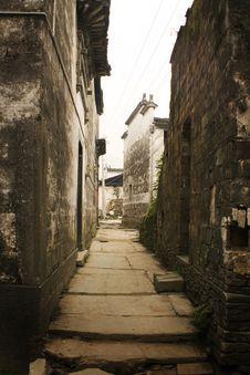 Likeng Village, Narrow Streets In Ancient China Royalty Free Stock Images