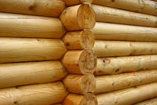 Free Wall Of Logs Royalty Free Stock Images - 10237069