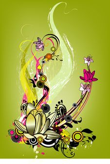 Free Floral  Abstraction Royalty Free Stock Photography - 10237357
