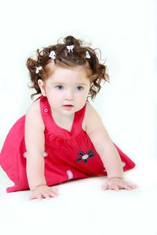 Free Cute Toddler Over White Royalty Free Stock Photos - 10237948