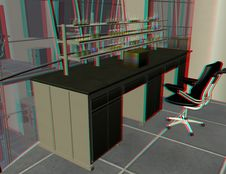 This Is An Anaglyph Image / Stereo Rendering Of A Royalty Free Stock Image
