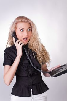 Surprised Businesswoman Stock Photo