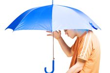 Free Blue Umbrella Royalty Free Stock Photo - 10238625