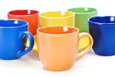 Color Cups Royalty Free Stock Images