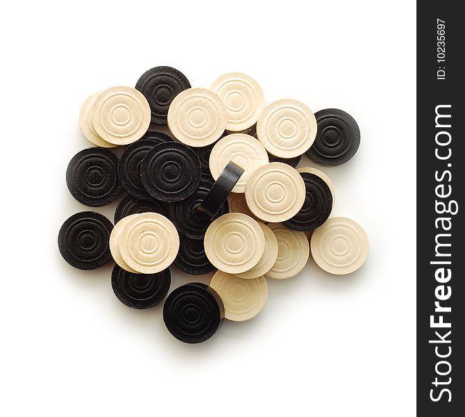 Backgammon game pieces