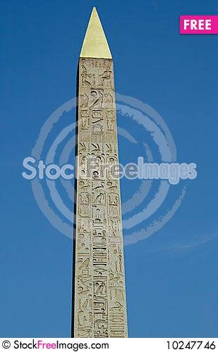Free Egyptian Obelisk In Paris Royalty Free Stock Image - 10247746