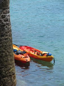 Free Sea Kayaks In San Sebastian Stock Photo - 10240280