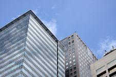 Top Part Of Skyskrapers In Downtown Tokyo, Japan Stock Photography
