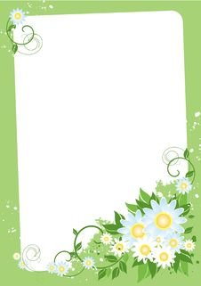 Free Floral Frame Stock Photography - 10241592