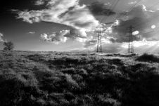 Free Electricity Pylons Royalty Free Stock Image - 10241876