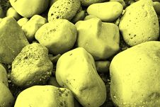Free Stones_yellow Royalty Free Stock Images - 10242229
