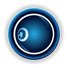Free Blue Button Royalty Free Stock Photography - 10242787