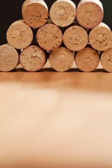 Free Stack Of Wine Corks Stock Photos - 10242883