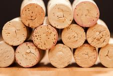 Free Stack Of Wine Corks Royalty Free Stock Photos - 10242898