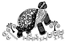 Free Patterned Turtle Stock Images - 10243594
