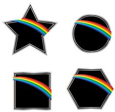 Free Black And Silver Rainbow Icons Stock Images - 10244144