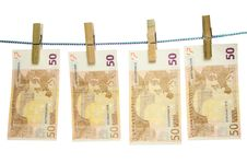 Money On A Rope Stock Image