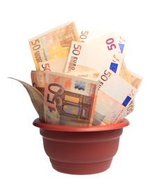 Free A Photo Of Money In A Planter Royalty Free Stock Photos - 10244278