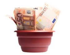 Free A Photo Of Money In A Planter Royalty Free Stock Images - 10244279