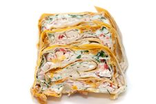 Free Rolls In Lavash Royalty Free Stock Photography - 10244897