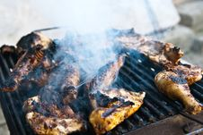 Free Chicken Grill Royalty Free Stock Photo - 10245665