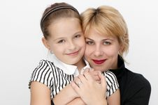 Free Portrait Of Mother With A Daughter. Royalty Free Stock Photography - 10245827