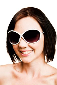 Free Close-up Of Woman Wearing Sunglasses Stock Image - 10245881
