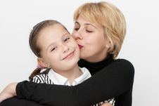 Free Portrait Of Mother With A Daughter. Stock Images - 10245884