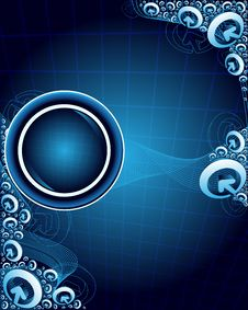 Free Abstract Blue Background Royalty Free Stock Photo - 10245885