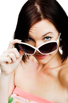 Free Portrait Of Woman Wearing Sunglasses Stock Photos - 10245963