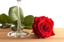 Free Red Rose And Wine Glass Stock Images - 10246294