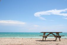Free Bench Beach Stock Photo - 10246760