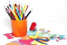 Free Stationery On A White Background Stock Images - 10246894
