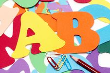 Free A, B On Background From Letters Stock Photo - 10246940