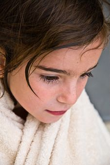 Free Young Girl With Towel Stock Photography - 10247242