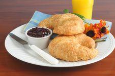 Free Croissants Stock Image - 10247421