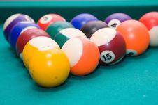 Free Billiard Balls Stock Photo - 10248560