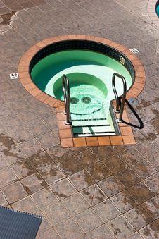 Empty Hot Tub Royalty Free Stock Image