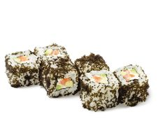 Free Japanese Cuisine - Salmon Sushi Roll Royalty Free Stock Photo - 10248975
