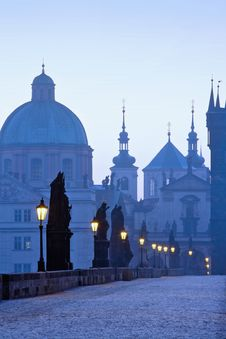 Free Charles Bridge, Towers Of The Old Town Stock Images - 10249114