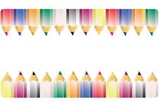 Colour Pencil Pattern Stock Photography