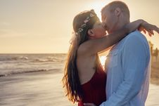 Free Affection, Backlit, Beach, Couple Stock Images - 102464634