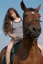 Free Girl Sits On Horseback Stock Photography - 10256472